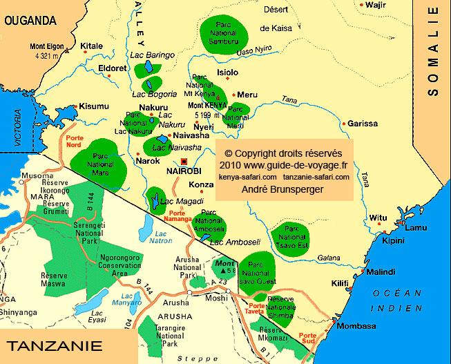 liste de 10 parcs et réserves de Tanzanie